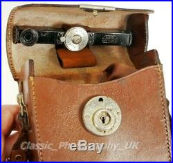 Early Leitz ETRIN Leather Camera Case for LEICA Standard & Leica I w Accessories