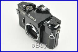 Excellent Canon F-1 Film Camera with Leather Case from Japan #3496