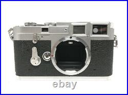 Excellent+++++ Leica M3 Silver Body Rangefinder Film Camera with Leather Case