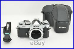 Excellent Nikon FM3A Silver Film Camera Body with Leather Case from Japan #3430