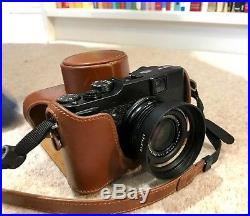 FUJI FinePix X10 12 MP Digital Camera (Black) with LEATHER CASE + Filter Adapter