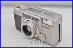 FUJIFILM KLASSE 35mm Point & Shoot Film Camera Silver with Leather Case #180714b