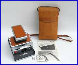 Film Tested Polaroid SX-70 Alpha1 Land Camera with Leather Case