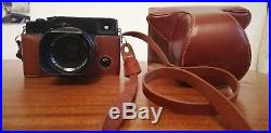 Fuji X-Pro1 Camera With 35 mm 1.4 Fuji Non Lens, Brown Leather Case And Extras