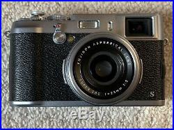 Fuji X100S Silver Digital Camera Boxed With Leather Case, Strap & 2 Batteries
