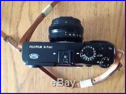 Fuji xpro1 camera with Fujinon F18mm/f2 lens and leather case hardly used