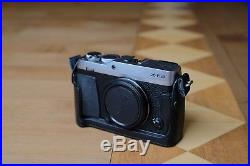 Fujifilm X-E3 APS-C mirrorless camera, with screen protector and leather case