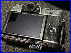Fujifilm X-T20 Leather Half Case 3 Batteries Silver Body Only Mirrorless Camera