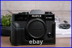 Fujifilm X-T30 26.1MP Mirrorless Camera Black (Body Only) withLeather Half-Case