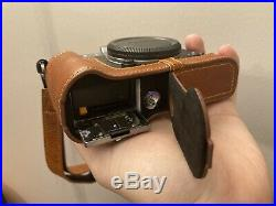 Fujifilm X-T30 Mirrorless Camera Silver (Body Only) Leather Case Lanyard SD Card