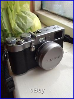 Fujifilm X series X100T 16.3MP Digital Camera Silver- WITH BROWN LEATHER CASE