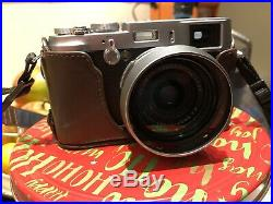 Fujifilm X100 Camera Boxed In Excellent Condition, With Original Leather Case