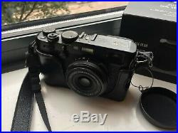 Fujifilm X100F Black Digital Camera with authentic leather carry case