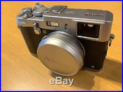Fujifilm X100S Digital Camera Silver. New Official Leather Case. Nice Condition