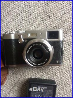 Fujifilm X100T 16 MP Digital Camera Black With Leather Case And Lens Cover