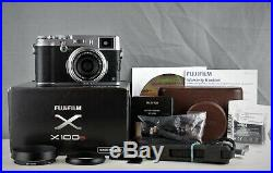 Fujifilm X100s Fuji Camera Silver Boxed With Extras Leather Case Excellent