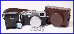 Fujifilm x100 Camera with Leather Case, Battery, Charger, Cables and Flash Card