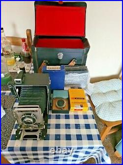 Graflex Camera And Leather Case And Extra Lens Pluse Extras