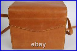 Hasselblad leather camera outfit case, approx. 27x22x15cm externally + keys