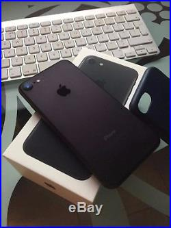 IPhone 7 Apple 32GB Black Unlocked Smartphone Leather Blue Case Included