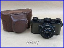 Kodak 35 PH324 Military Army Green 35mm camera with Leather Case Rare