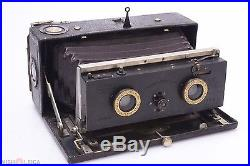 L. JOUX STEREO POCHETTE 3R PANORAMA CAMERA With STEINHEIL LENSES, LEATHER CASE