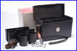 LARGE LEICA M LEATHER SYSTEM HARD CASE With INSERT, STRAP, KEY, MAKERS BOX
