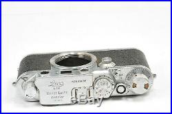 LEICA III F camera body with leather case, from 1951, full working condition