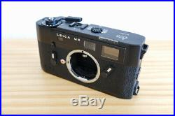 LEICA M5 Black 35mm Rangefinder Film Camera Body with Leather Strap and Case