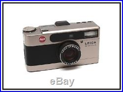 LEICA minilux 40mm ANALOG 135 FILM camera MINT condition WITH LEATHER CASE