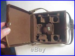 LEITZ LEICA Antique LEATHER CAMERA & LENS CARRYING CASE