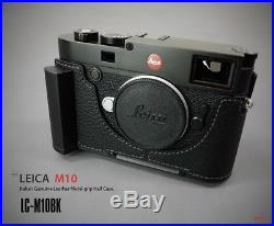 LIM'S Genuine Italy Leather Camera Half Case + Dovetail Plate Grip For Leica M10