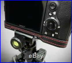 LIM'S Genuine Leather Camera Half Case & Dovetail Plate For Sony A7R3 III Black