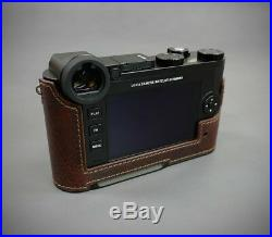 LIM'S Genuine Leather Camera Half Case + Dovetail Plate + Grip For Leica CL / BR