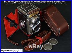 LUIGI NEW FULL CASE+STRAP to RECENT ROLLEIFLEX GX TLR, NATURAL AGED BROWN, READY