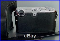 LUIGI's FULL CASE for ZEISS IKON ZM, withLEICA M MOUNT, HAND STITCHED, STRAP INCLUDED