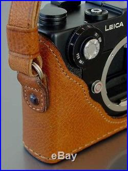 LUIGI's PREMIUM CASE to LEICA CL, DELUXE STRAP INCLUDED, HOLD IT NOW HORIZONTALLY