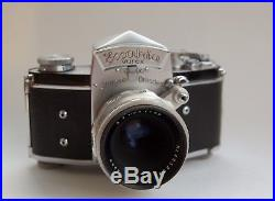 Legendary Exakta Varex Camera With 3 Lenses and Leather Cases. Stunning Example