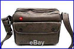 Leica 14805 Gray Leather Combination Camera Bag Case 26988