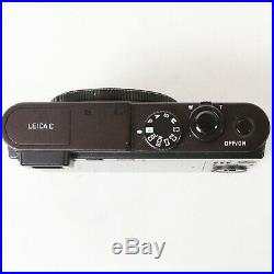 Leica C Type 112 Digital Camera Dark Red with C-Lux Leather Case, Charger, 64GB