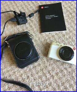 Leica C (type 112), with leather Leica case, Leica compact digital camera