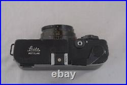 Leica CL Film Camera 40mm f/2 Summicron with Leather Case 5.5 to 39mm adapter+hood