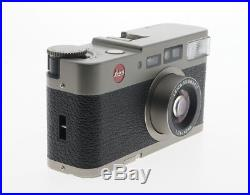 Leica CM 40mm F2.4 Point & Shoot Summarit 35mm Film Camera with Leather Case