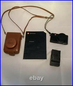Leica D-LUX 3 10.0MP Digital Camera Black. + Brown Leather Carring Case