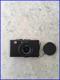 Leica D-LUX 4 10.1MP Digital Camera Black with leather LEICA case