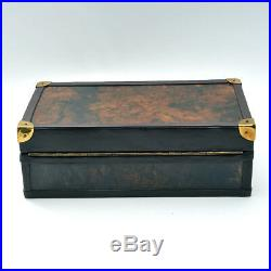 Leica Elegant Display Case With Leather Camera and Lens Cover Mint Condition
