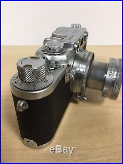 Leica IIIF Camera with Summitar Lens, Leather Leica Case and Two Books