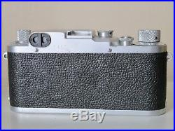Leica IIIc 35mm Film Camera + 50mm f/2 Summar Lens with Leather Case