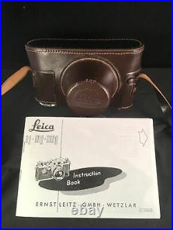 Leica IIIf Camera with Lens and Leather Case (AS IS) Serial Number 625381