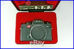 Leica Leitz R4 Black Body 35mm SLR Film Camera Portugal with Leather Fitted Case